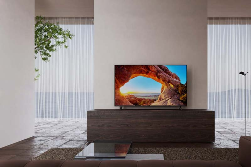 Sony television in living room