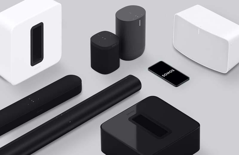 Assortment of Sonos speakers